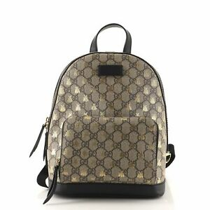 Gucci Zip Pocket Backpack Printed GG Coated Canvas Small
