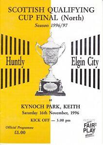 Scottish Qualifying Cup North Huntly v Elgin City 16 Nov 1996
