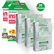 30PCS Fujifilm Fuji Instax Mini White Film For Instant 7s 8 9 25 50s 70 90 SP-1