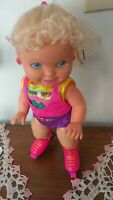 "TYCO ROLLER SKATING DOLL WORKS 16""1991"