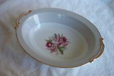 "Noritake China Margarita Floral Pattern 10"" Oval Vegeatble Serving Bowl"