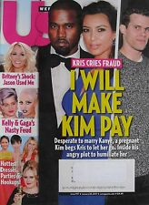 KIM KARDASHIAN KANYE WEST January 28 2013 US Magazine LADY GAGA / BRITNEY SPEARS