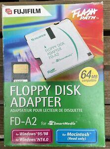 NIB Fujifilm Floppy Disk Adapter FD-A2 for Smart Media, for Windows 95/98