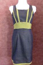 Robe ANNE CEYLAC T38 - Robe droite en jean bleu et verte tout strech (1703015)