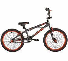 "20"" Kent Chaos Boys BMX Bike, BMX freestyle bicycle 1 Speed, Matte Gray / Orange"