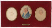 "Mme Aimee Zoe Lizinka de Mirbel ""Male Portraits"", three mounted miniatures"