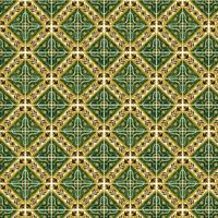 1: 12th Groß Grün Star Mit Blumen Grenze Fliese Blatt mit Weißem Mörtel