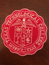Texas Technical College Lubbock Texas Embroidered Iron on Patch 2.5""