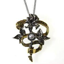 Carpe Noctum Pearl Rose Flower Pendant Necklace Children of the Night CN12