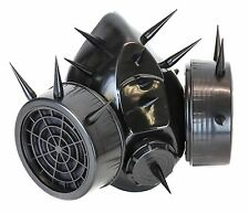 Gas Mask Respirator Spike Punk Goth Rave Cyber Burning man Dual Filter