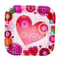 "Hearts In Bloom 7"" Plates"