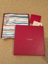 RARE CARTIER Silk Triangular Scarf With Original Packaging