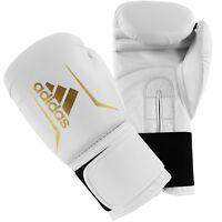 Adidas Speed 50 Boxing Gloves White Sparring 6oz 8oz 10oz 12oz