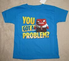 INSIDE OUT *You Got a Problem?* Turq S/S Tee T-Shirt sz 6/7