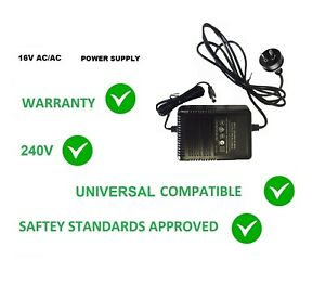 16V AC 2500MA POWER SUPPLY WALL ADAPTER 16 V 16 VOLT  2.5 AMP 2500 MA 220-240V