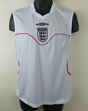 Umbro England Football Vest Sleeveless Shirt Home 3 Lions Soccer Mens Medium M