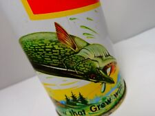 Schmidt Yellow Bands Northern Pike Fish Pull Tab Beer Can #193-10 Set-4 var. D