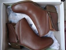 LUCKY BRAND LP BRENON DOUBLE ZIP ANKLE BOOTIES, COCOA GOAT SZ 7M NWB MSRP $99.50