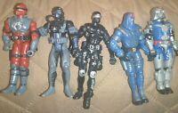 Gi Joe ARAH 1990s and 2000s Lot of 5 Gi Joe Action Figures - Snake Eyes, Duke