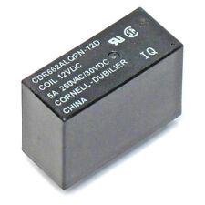 2pcs Cornell Dubilier 12V DC Relay DPST 5A Amp 250VAC 30VDC