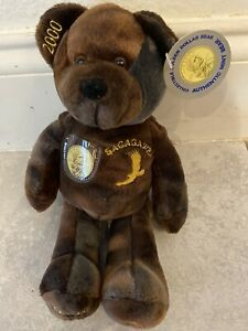 "10 "" SACAGAWEA GOLDEN DOLLAR BEAR PLUSH 2000 AUTHENTIC MINT BEAR WITH TAG"