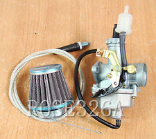 Carburetor W/ Air Filter Throttle Cable For Honda ATC Big Red Fourtrax Fat Cat