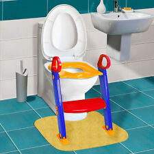 Baby Trainer Toilet Potty Seat Chair Kids Toddler Ladder Step Training Stool Us