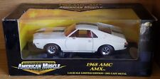 1/18 ERTL AMERICAN MUSCLE 1968 AMC AMX WHITE with BLACK STRIPES bd