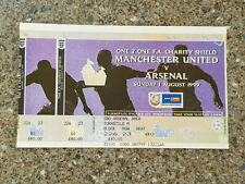 More details for 1999 - charity shield match complete ticket - manchester utd v arsenal -