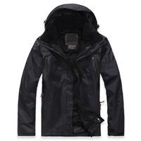 Mens Ski Jacket Snowboard D07 Black Winter Waterproof Breathable S M L XL XXL