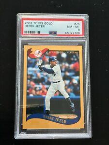 2002 Topps Gold Derek Jeter #75 PSA 8 New York Yankees POP 11