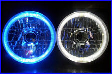 "Pair Toyota Landcruiser 40 60 75 78 79 series BLUE LED Halo 7"" Round headlights"