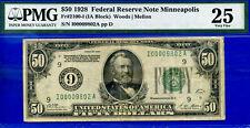 FR-2100-I 1928 $50 FRN (( 4-Digit Low Serial # 00009802 )) PMG 25 - Minneapolis