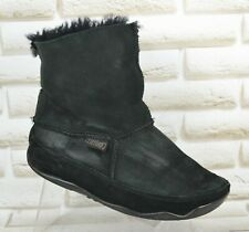 FITFLOP Mukluk Shorty Womens Black Leather Slip On Ankle Boots Size 6 UK 39 EU