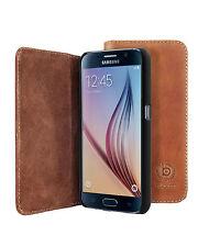 Bugatti BookCover Oslo Cognac B Leder Schutzhülle Tasche für Samsung Galaxy S6