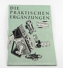 Rolleiflex Rolleicord la Pratique Ergänzungen de 1956
