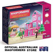 Genuine MAGFORMERS Sweet House Set 64 pcs - 3D Magnetic building construction
