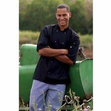 Uncommon Threads 0429 Montego Chef Coat in Black - Small