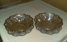 pair of vintage silver plated pierced bowls