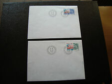 FRANCE (timbre service) - 2 enveloppes 9/5/1998 (cy6) french