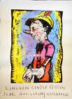 """Jim Dine Pinocchio Lincoln Center 50th Anniversary Celebration Poster 42"""" x 30"""""""