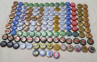 130 ct pieces Used Beer Bottle Caps Various Colors Arts & Crafts Micro brew