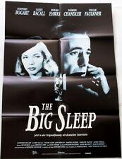 Humphrey Bogart Lauren Bacall - The Big Sleep * German Orig Poster! film noir