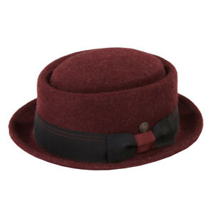 Quintin Mens Womens Felt Porkpie Pork Pie Hat Winter Hat With Paisley Lining