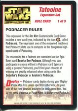 Star Wars CCG Tatooine Light Side Rule Card 1 Of 3