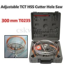 300mm Adjustable Ceiling Downlight Hole Saw TCT Carbide/ HSS Wall Holesaw Cutter