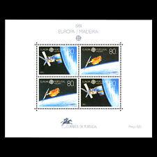 """Madeira 1991 - EUROPA STAMPS """"European Aerospace"""" s/s - Sc 152 MNH"""