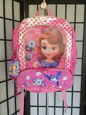 Disney Junior Sofia the 1st Pink Silver School Books Backpack NWT