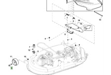 Genuine John Deere X106 Ride On Mower Deck Gauge Wheel Bolt GX21012