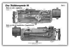 WW1 German MG08 Maxim Machine Gun Training Chart - Receiver